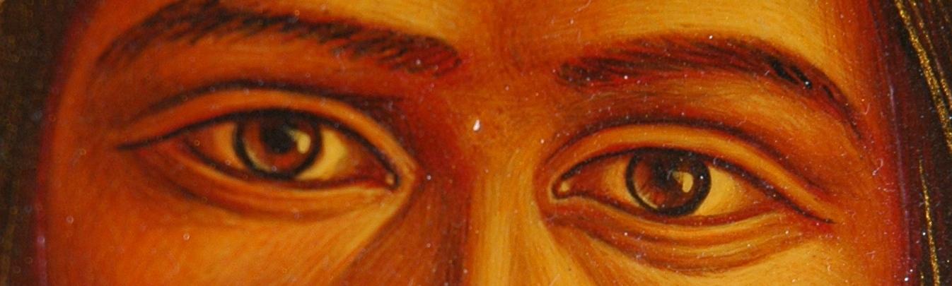 warm christ eyes
